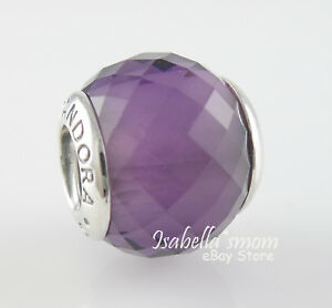 PETITE FACETS Authentic PANDORA Purple MURANO Charm/Bead 791499ACZ NEW w POUCH!