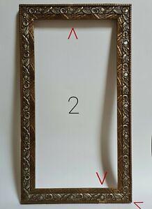 Cadre de Tableau Art-Déco Bois & Stuc dimensions logement : 48,4 x 24,3 cm n°2/2