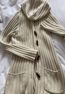 Next Ladies Long Hooded Cardigan Size Medium