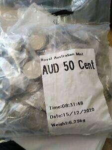 2019 COA 50c Jody Clark JC 1 bulk bag 400 coins  UNC 50 cent RAM bag