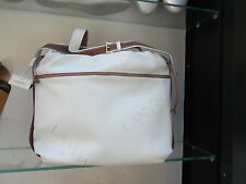 Borsa LANVIN pelle bianca rifiniture marroni tracolla-Vintage leather bag