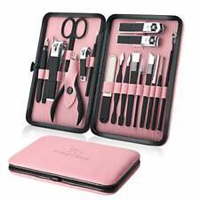 Manicure Set 18pcs Professional Nail Clippers Kit Pedicure Care Tools