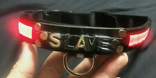 Light up LED collar any word Slave slut princess customize it! adjustable choker