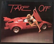 Take Off Lamborghini Bikini Sexy T & A Vintage Poster 20x16 Oh Yeah Take It Off