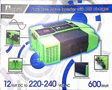 PURE SINE WAVE FTS600P DC 12V TO AC 220-240V-600W DUAL POWER INVERTER