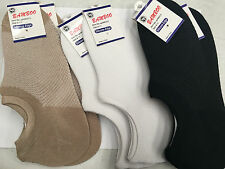 6 Pairs Assorted Bamboo Invisible Footlets No Show Footlet Socks Up to 6-11 New