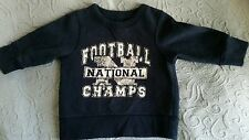 Children's Place 12 months sweatshirt navy blue long sleeve football champs