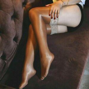 Women's Hold Up 70D Hosiery Nylon Stockings Shiny High Glossy Tights Thigh High