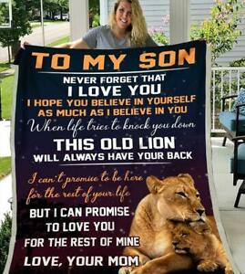 Lion To My Son I Can Promise To Love You For The Rest Of Mine Sherpa Blanket