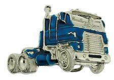 MACK VEHICLE TRUCK BLUE STUBBORN TOUGH STIFF BELT BUCKLE GIFT TRUCK NEW MEN'S