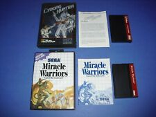 Cyborg Hunter & Miracle Warriors Complete & VERY GOOD Sega Master System!
