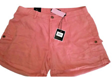 Nanette Lepore Size 14 Pink Cuffed Shorts with Pockets