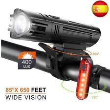 Juego de Luces LED para Bicicleta, 4 Modos Luces Bicicleta Delantera