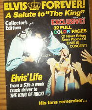 """ELVIS FOREVER A Salute to """"The King"""" magazine  * 1977 *  Collectors Edition"""