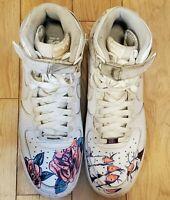 Nike Air Force 1 High '07 Shoes Custom Triple White 315121-115 Men's Size 9.5