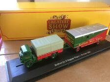 OO GAUGE OXFORD 1:76 Showmans Bedford QL Canvas Lorry and Baggage Trailer Mills