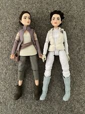 Star Wars Forces of Destiny Rey And Princess Leia Hoth Outfit Barbie Dolls