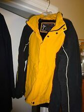Mens Zero Xposure Winter Jacket Coat Parka Medium Blue Yellow Snowboard Sports