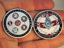 Freemason Collectible Coin Military Veteran Challenge Coin Masonic Collectible