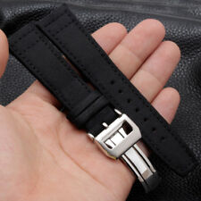 Nylon Fabric Leather Watch Band Strap Deployment Buckle Replacement For IWC