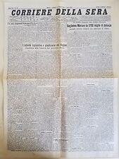 CORRIERE DELLA SERA 27 MARZO 1930 - GUGLIELMO MARCONI / REGIME