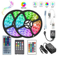 10M 5050 RGB LED Strip Light Flexible lamp+WiFi Remote Controller+DC 12V Power