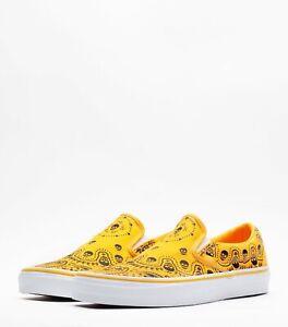 Vans slip on Yellow Bandana unisex