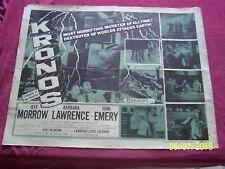 KRONOS Original 1957 22X28 Movie Poster Jeff Morrow Barbara Larence SIFI monster