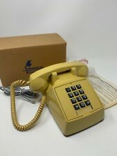 RETRO VINTAGE REFURBCO Push Button DESK TELEPHONE YELLOW