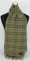 BURBERRY SCARF 100% LAMBSWOOL FOR MEN AND WOMEN MADE IN ENGLAND GREEN