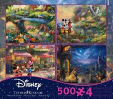 THOMAS KINKADE DISNEY DREAMS COLLECTION MULTI-PACK 4 IN 1 PUZZLE 500 PCS #3669-1