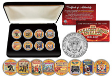 CIRCUS RINGLING BROS & BARNUM & BAILEY Official 8-Coin JFK Half Dollar Set w/BOX