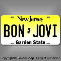 "BON JOVI Rock Group Band New Jersey Aluminum Vanity License Plate Tag 6""x12"""
