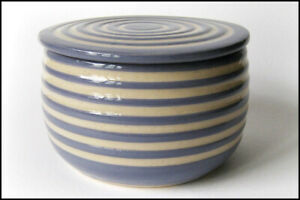 ♡ Ceramic French Butter Dish Crock Keeper Server Ball Pot - Cooks Kitchen Gift ♡