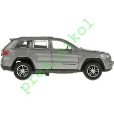 Jeep Grand Cherokee Trailhawk Silver Metallic Diecast Model Car Scale 1:43