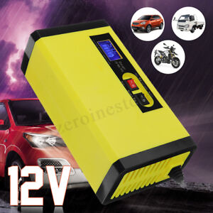12V 8A Pulse Repair Intelligent Battery Charger For Car Motorcycle We