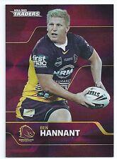 2013 NRL Traders Parallel PS3 Ben HANNANT Brisbane Broncos