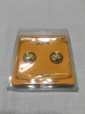 Usmc Gold finish brass dress cap screw buttons for cover strap retention