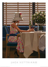 DAYS OF WINE AND ROSES PRINT BY JACK VETTRIANO lady in vintage hat cafe poster