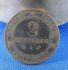 ancienne piece france 2 centimes 1890 A monnaie coin 1