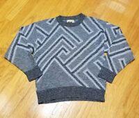 Vintage 80s Mens XL Le Tigre Textured Cosby Sweater Biggie Ugly crewneck