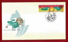 1999 Christmas Island Chinese Lunar Year of the Rabbit SG 466/7 FU or FDC