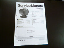 Original Service Manual Technics SB-S730