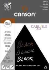 Canson Black Drawing 240gsm Paper A4 Pad Including 20 Sheets of Deep Black Smoo