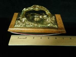 c 1900 French Art Nouveau Bronze Ink Blotter Buvard, Raspberries, Marionnet