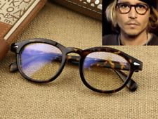 bc3bb8b5f66d Johnny depp Style Eyeglass Frames Retro Eyewear Glasses Vintage Leopard  Rx-able