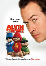 ALVIN AND THE CHIPMUNKS MOVIE POSTER 1 Sided ORIGINAL MINI SHEET 13x20