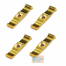 4 x 38mm Brass TURN BUTTON LATCH Rabbit Hutch Shed Door Cage Cupboard Catch