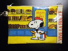 Ancien plumier trousse Snoopy Vive la France 1958