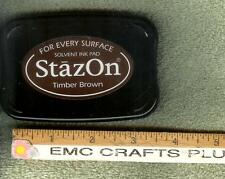 STAZON - TIMBER  BROWN SOLVENT  INK PAD FOR EVERY SURFACE